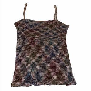 Missoni knit sleeveless shimmery top